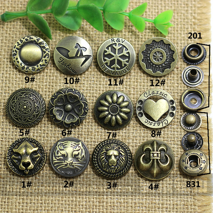 DIY handmade accessories Metal jeans button Decorative buttonss Snaps rivet 20mm(China (Mainland))