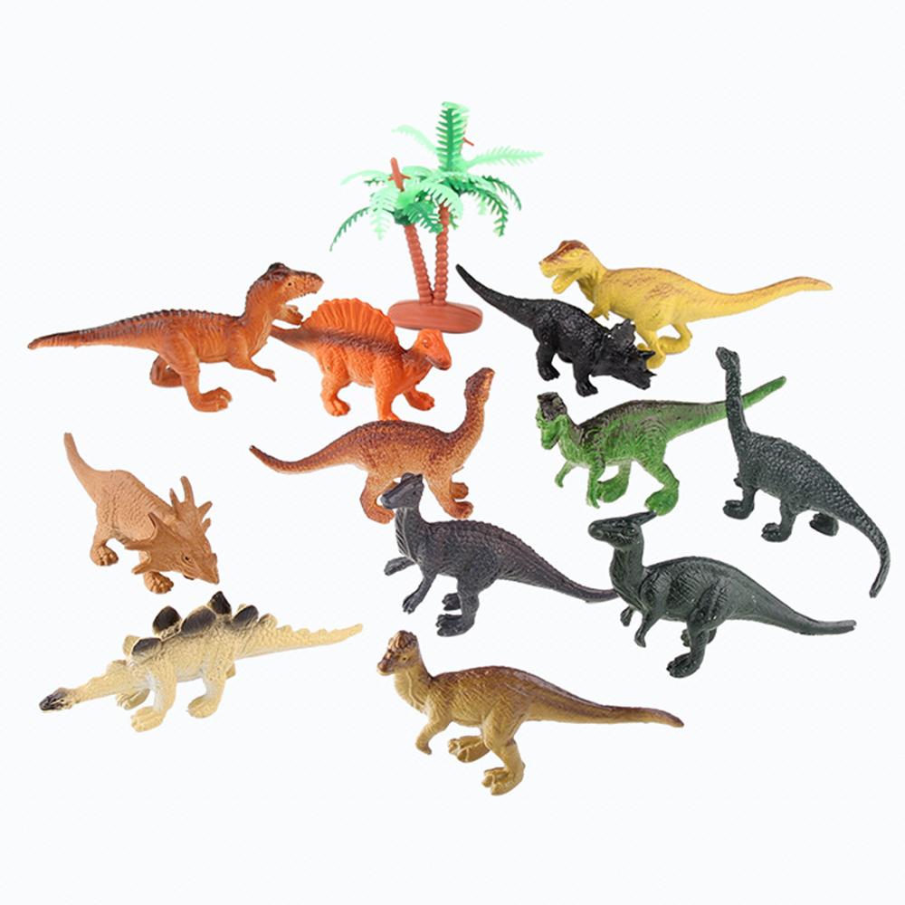 12pcs/set Plastic Dinosaur Toy Modeling Toys Decorations for childrenToys 7*3CM<br><br>Aliexpress