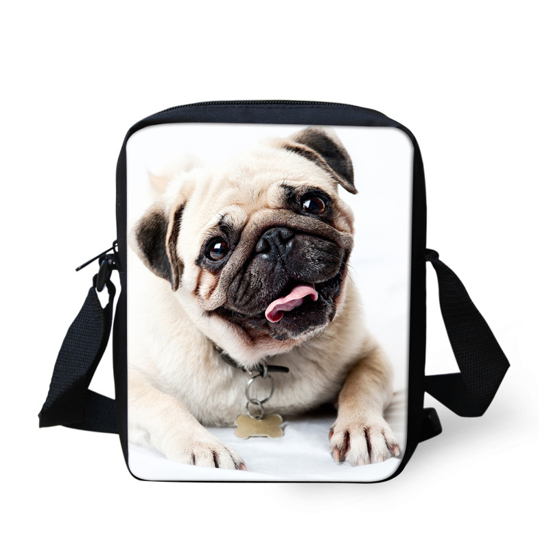 cute pet cat animal bags for girls messenger bag,pug dog bolso spanish bags women,shoulder crossbody bags causal kids travel bag(China (Mainland))