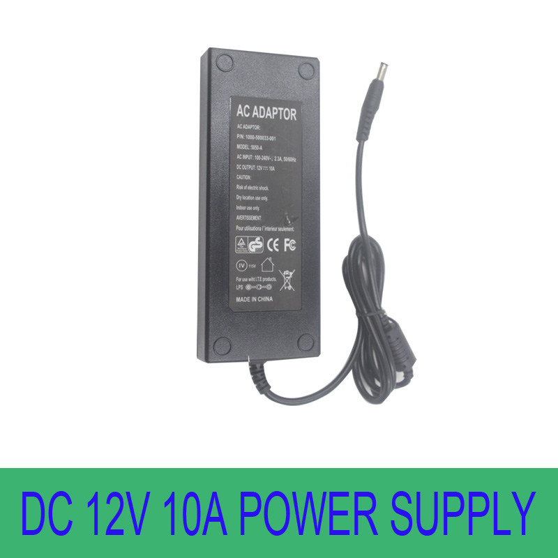Adapter DC 12V 10A 120W LED Power Supply Charger for 5050/3528 SMD LED Light or LCD Monitor CCTV(China (Mainland))