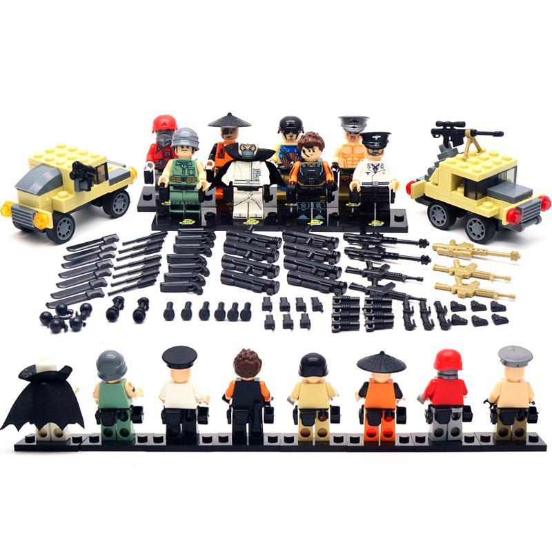 Super Price! SWAT Military Big Set 8 pcs/lot with 2 Chariots Kid Baby Toy Mini Figure Building Blocks Sets Minifigures Brick<br><br>Aliexpress