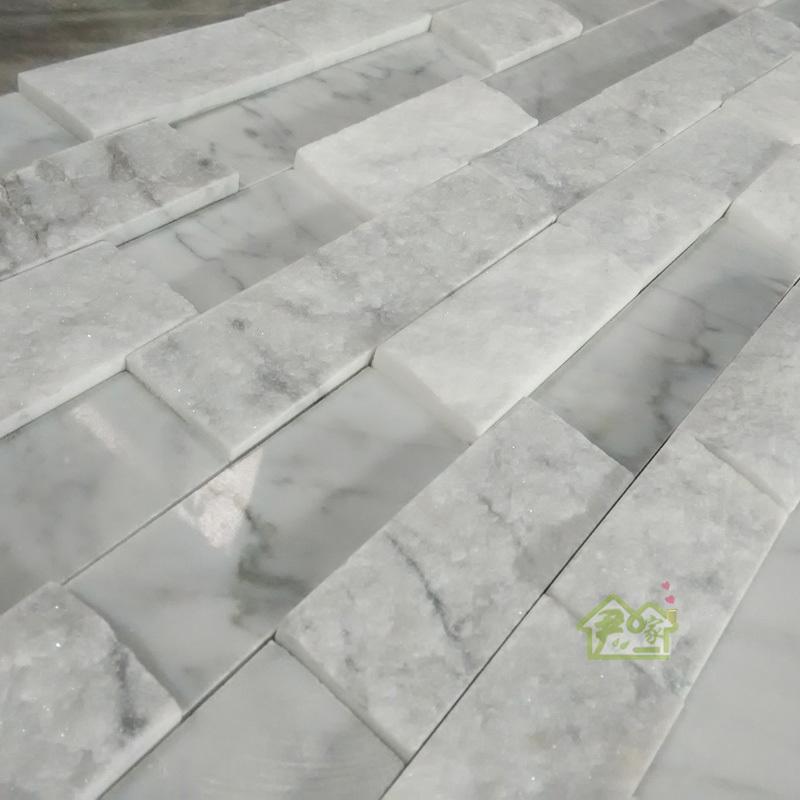 product Carrara white marble mosaics of natural stone culture stone TV backdrop sectional sofa tile decoration