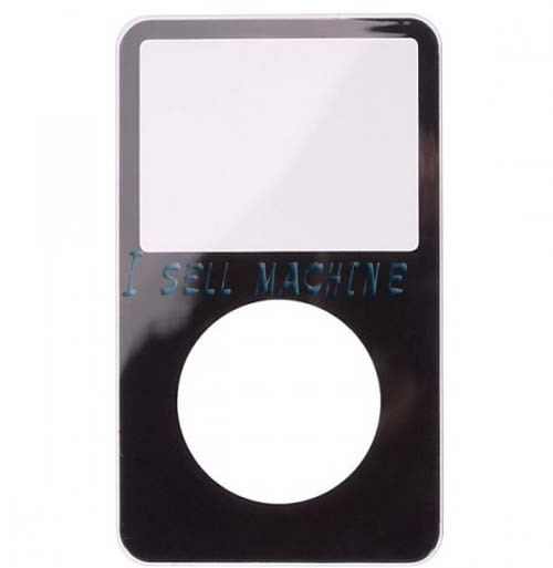 3pcs/lot High Quality And Original For iPod Video Front Cover Black Free Shipping(China (Mainland))