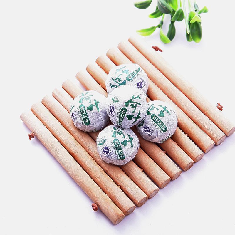 Lotus Leaf Puer Tea Chinese Ripe Pu Er Tea Yunnan Puer Tea Shu Tuo Cha Ansestor