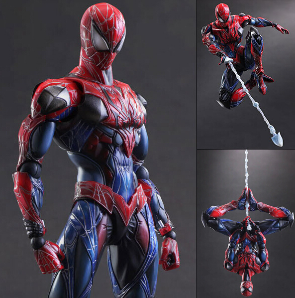 Superhero Spider-Man Action Figure SpiderMan Peter Benjamin Parker Collection Model Brinquedos Play Arts Kai PVC Figure Toys(China (Mainland))