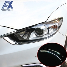 Buy AX CHROME FRONT HEAD LIGHT LAMP HEADLIGHT COVER TRIM BEZEL GARNISH MOLDING EYEBROW EYELID FOR 2014 2015 MAZDA 6 ATENZA M6 GJ for $17.09 in AliExpress store