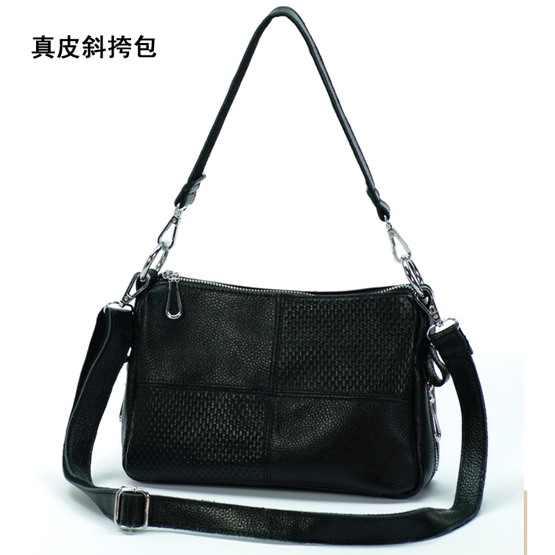 Brief messenger bag genuine leather handbag women's cowhide messenger bag sports casual dual-use packet