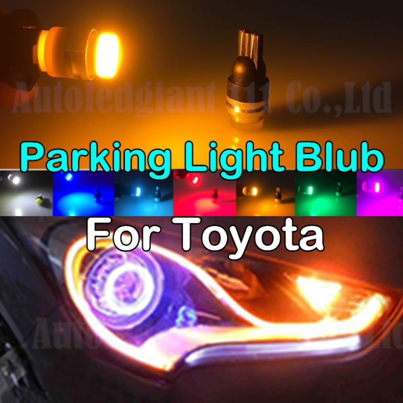 For Toyota Camry 4Runner Celica Corolla Cressida Matrix Previa Prius Yaris RAV4 Sienna Tacoma W5W T10 Car Parking Light Yellow(China (Mainland))