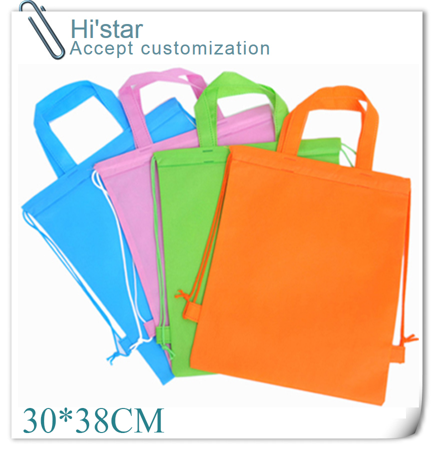 30*38CM 20pcs hot sell in Canada non woven shopping bag,non-woven shopping bag,wholesale cheap shopping bag with string(China (Mainland))