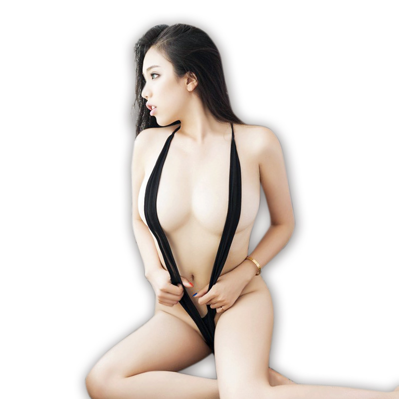 2015 New Sexy Products Lingerie Black Teddy Micro Cups Super Sexy Sling Shot Monokini Metallic Sling Shot Underbust Strap(China (Mainland))