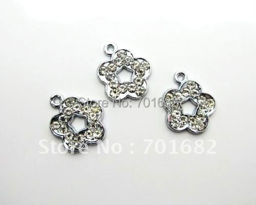 wholesale 10pcs/lot Plum Blossom Hang Pendant Charm size: 15x15mm stuff: Zinc alloy fit necklace cell phone charms(China (Mainland))