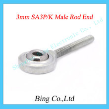 Free Shipping !10 pcs/lot  3mm male metric threaded rod end joint bearing NOS3 SA3T/K POSA3