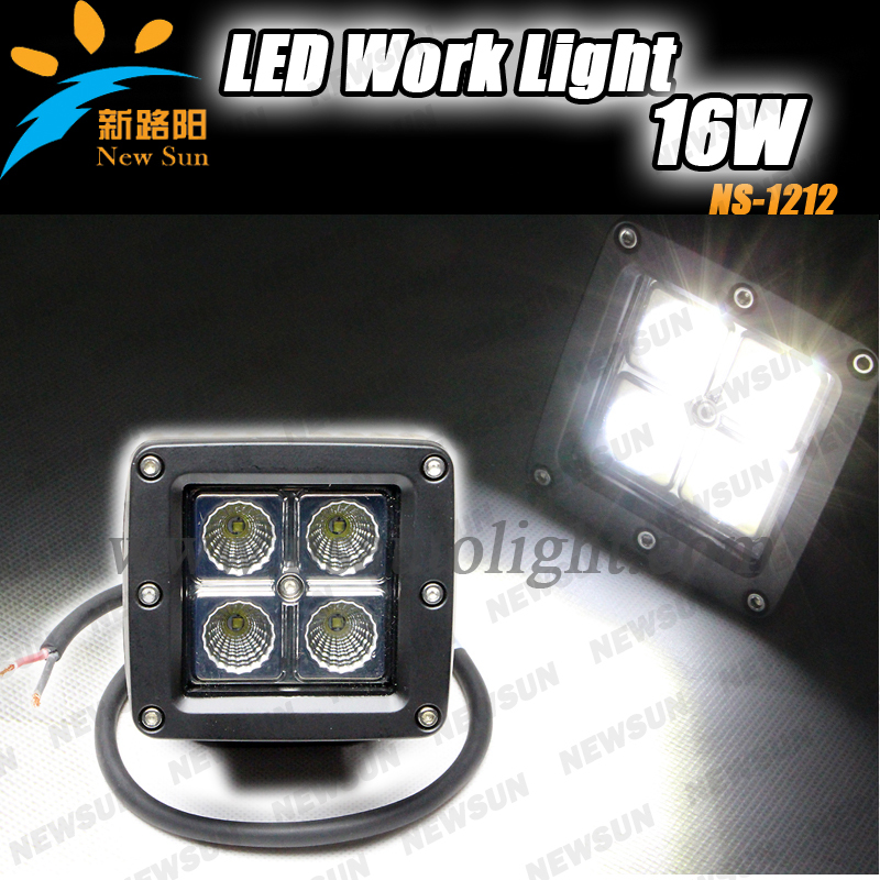 Factory supply 12W Square led tractor truck offroad working lights, 10-30V DC IP68 CREE 12w work light - Nanjing Newsun Photoelectric Limited Company store