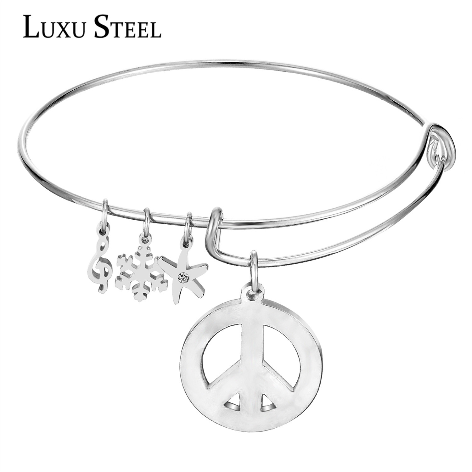 2016 Charms Vintage Disc Anchor Fishhook Love Pendant Women Bangles Cuff LOVE Bracelet For Women Jewelry(China (Mainland))