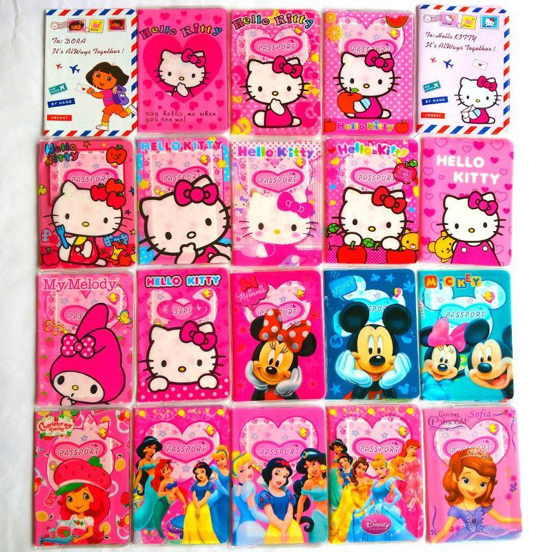 PVC Leather passport cover passport holder bags,cute Cartoon  ID Card Holder Passport Cover For girls 14*9.6CM<br><br>Aliexpress