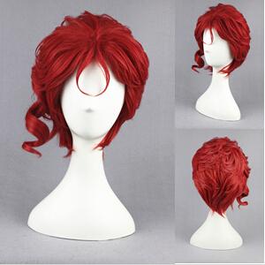 [JoJo's Bizarre Adventure] Kakyoin Noriaki Red Synthetic Anime Cosplay Hair Wig 28 CCM