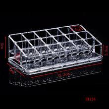 clear PS lipstick rack nail polish organizer jewelry storage box nail polish rack makeup organizer(China)