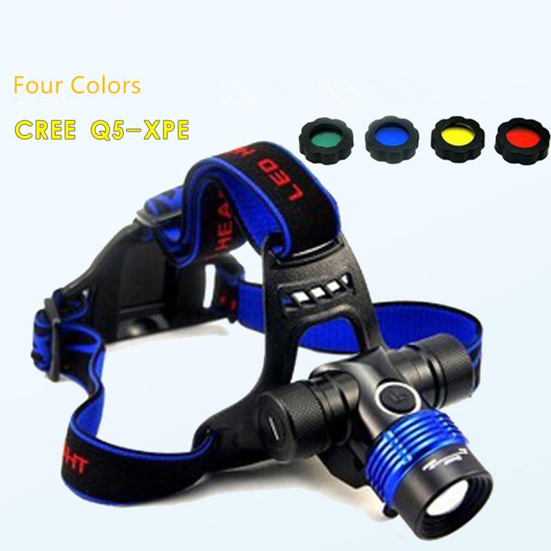 (100pcs/lot) 3 Flash Modes Waterproof CREE XPE/Q5 Aluminum Alloy Head Dimmer Zoom Bike/Bicycling Riding Headlamp/Led Flashlight(China (Mainland))