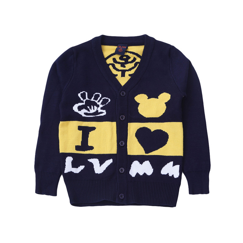 2016 New Arrivals Kids Clothes Boys Sweaters Kids Winter Sweater Bobo Choses Baby Sweaters for Boys Kids Knit Pattern Sweater(China (Mainland))