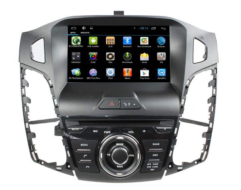 "8""Capacitive Android 4.4 autoradio gps for ford focus 2012 ford 3 voice commands Steering wheel dual core 3G WiFi blue light(China (Mainland))"