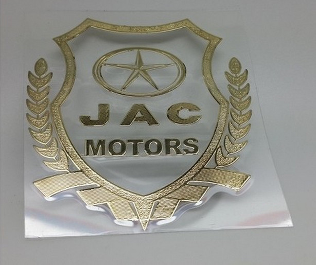 2/pcs car logo for JAC S5 LOGO fit for all jac car JAC S5 S3 Tongyue(J3) Heyue (j5,j6) refine metal logo sticker(China (Mainland))