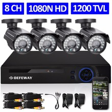 DEFEWAY 8CH 1080N HDMI DVR 1200TVL 720P HD Outdoor Security Camera System 8 Channel CCTV Surveillance DVR Kit AHD Camera Set(China (Mainland))