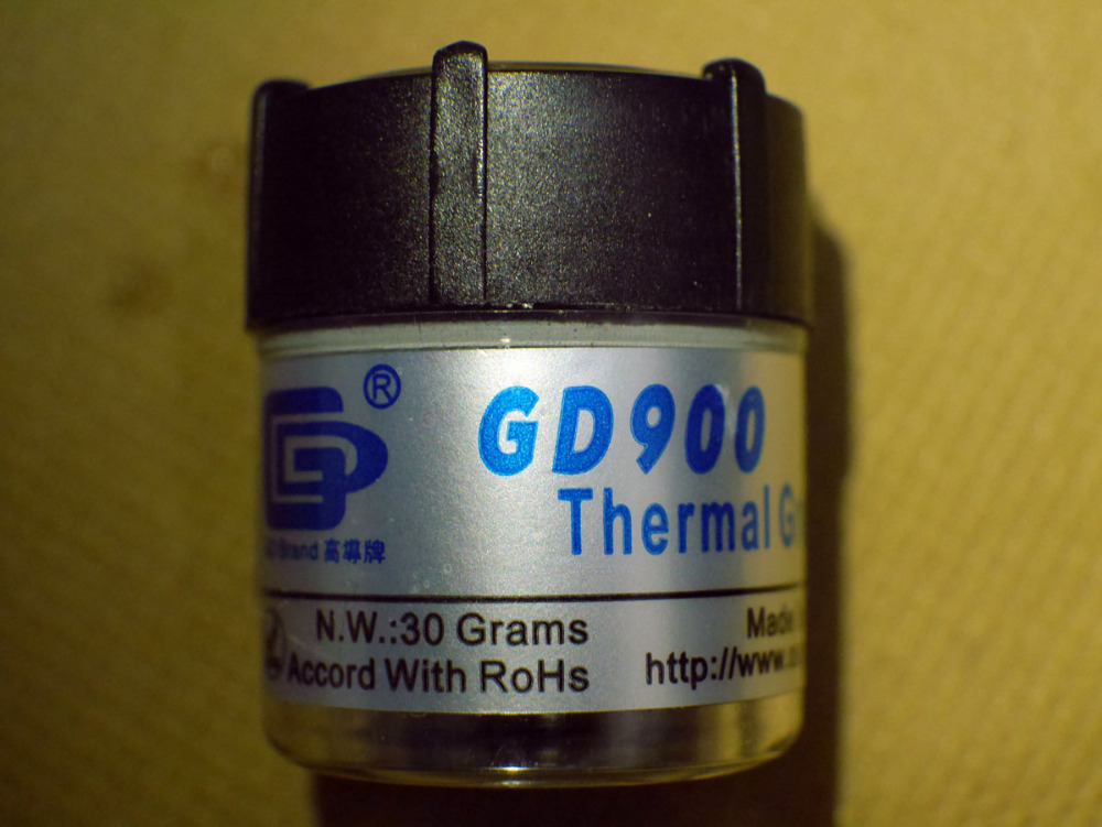 Free shipping 30g Gray GD900 High Performance Thermal Grease Paste Silicone Heat Sink Compound PS3 CPU