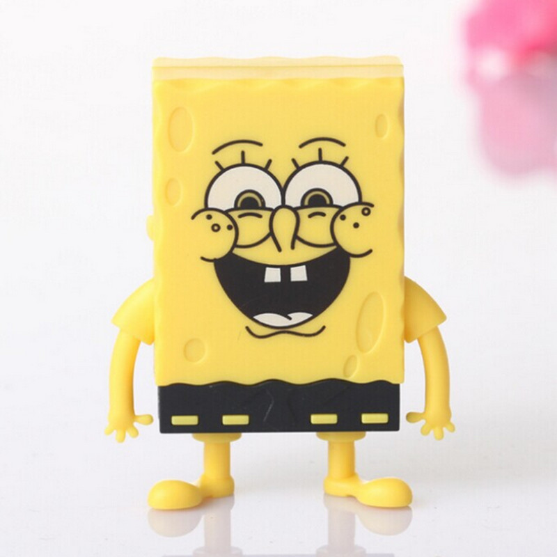 Free Shipping Spongebob Squarepants Cartoon Mini Digital Music TF Download Free Music MP3 Player With Micro TF/SD Card Slot(China (Mainland))