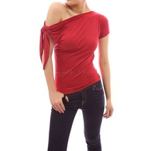 2015 Summer Casual Women T Shirt Women Tops One Shoulder Women's T-Shirts Short Sleeve Camiseta Feminina 12(China (Mainland))