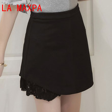 Buy Women Skirt High Waist Skirt Summer Korean Style Mini Skirt 2017 Lace Patchwork Short Skirts Plus Size 5XL Ladies Clothes 8297 for $11.39 in AliExpress store