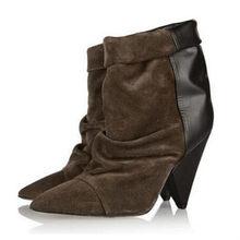 Jady Rose Schwarz Sexy Stiefeletten für Frauen Spike High ferse Stiefel Aus Echtem Leder Herbst Winter Botas Mujer Schuhe frau(China)