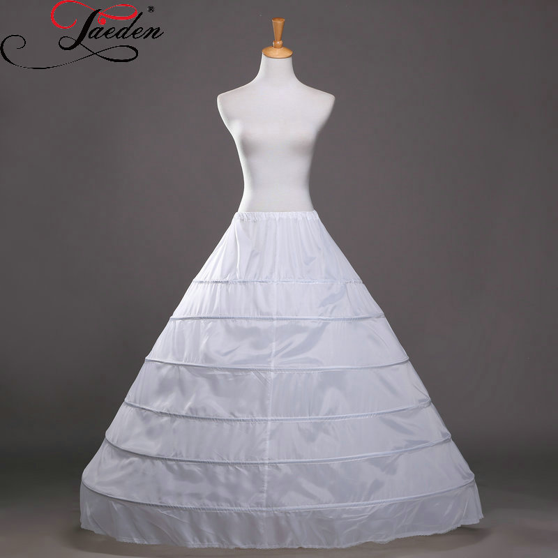 Jaeden wholesale underwear crinoline 6 hoop petticoat for for Hoop underskirt for wedding dress
