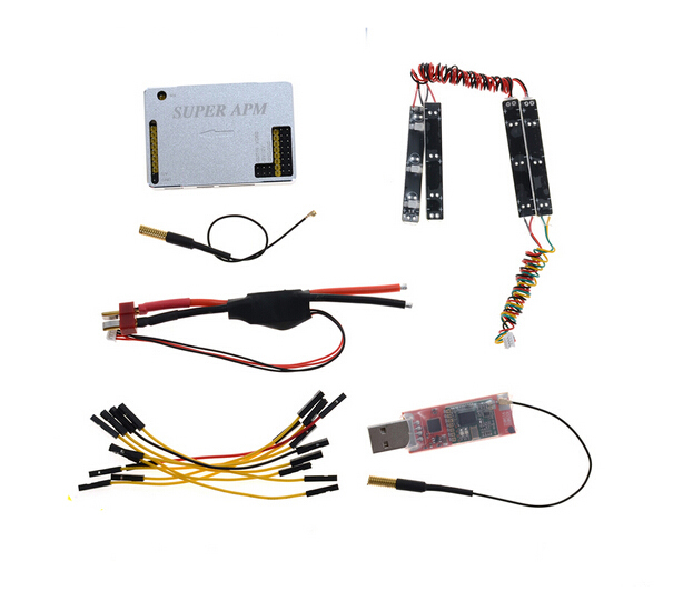 FPV 433Mhz APM Flight Control w/ Aluminum Case Integrated MINI OSD 3DR Tx w/ Power Module 3DR Receiver Combo SKU:11719(China (Mainland))
