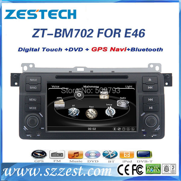 ZESTECH 2 Din Car DVD Navigation system for BMW 3 E46 M3 Car DVD Navigation system with radio audio navigation system autoparts(China (Mainland))