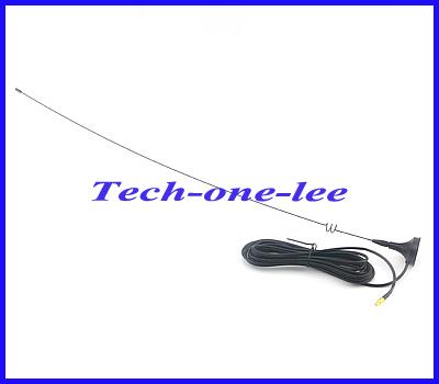 10pcs/lot Dual Band VHF 136-174Mhz & UHF 400-470Mhz Aerial MCX Plug 3dbi gains Magnet Base Antenna RG174 3M Free shipping