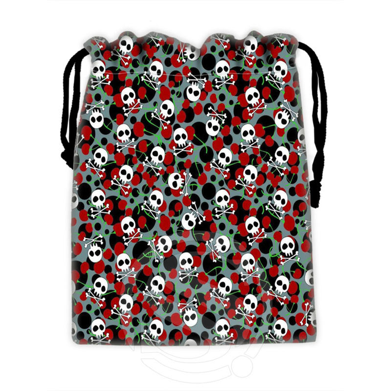 Best Nice Custom skull #9 drawstring bags for mobile phone tablet PC packaging Gift Bags18X22cm SQ00715-@H0350(China (Mainland))
