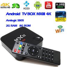 Buy Android 4.4 TV Box MXIII 4k Amlogic S805 Quad Core 2G 8G Memory Smart Set-top Box Pre-installed Kodi Xbmc Full Loaded Mini PC for $74.32 in AliExpress store