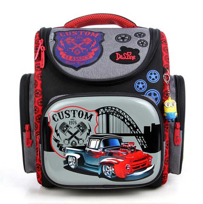 2016 Brand Boys Racing Cars School Bags Orthopedic Backpacks Mochila Infantil Waterproof Double Shoulder Bag Kids Bolsas - Happy Shopping Online Store store