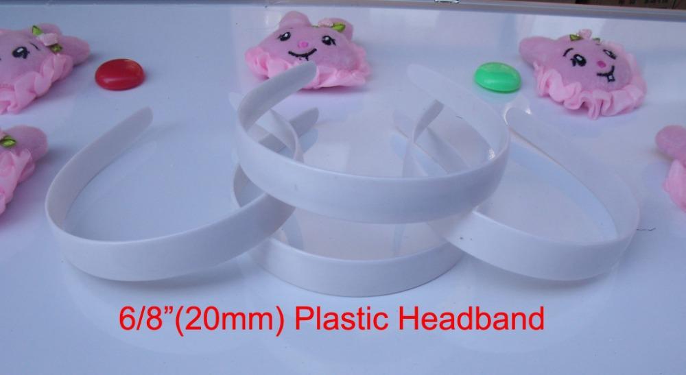 "10 pcs 6/8"" plastic headband without teeth plastic headband bulk 6 sizes to choose: 3/8"", 5/8"", 6/8"",1"", 1-1/2"", 48mm(China (Mainland))"