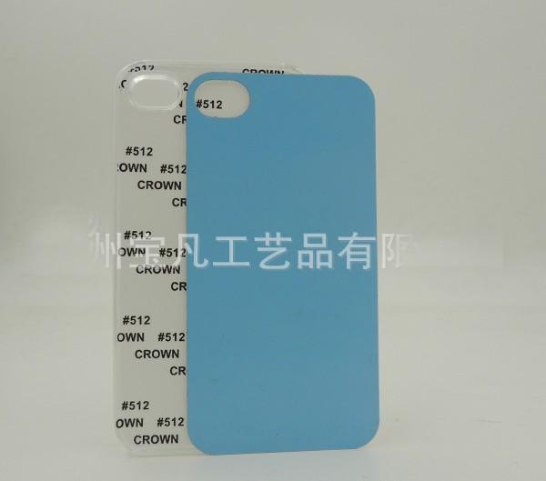 10pcs/lot White Black Transparent Blank 2D Sublimation Hard Plastic PC Groove Case for iphone 4/4S Aluminum Inserts glue