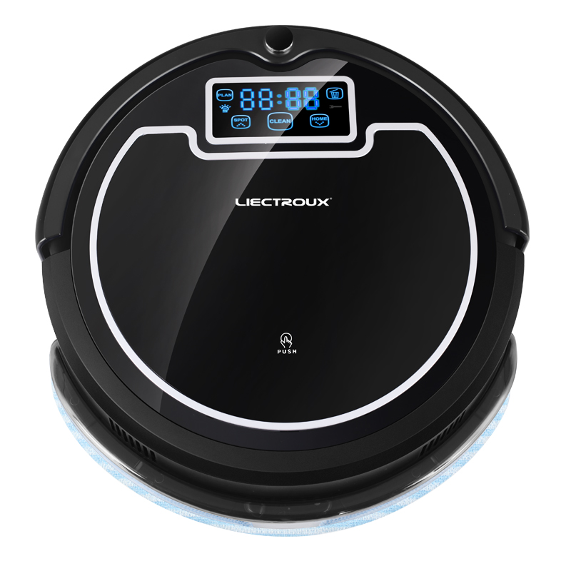 (Ship From Russia) 2017 Strong Suction Robot Vacuum Cleaner,with Water Tank, Wet&Dry Mop,with Tone,HEPA,Schedule,Virtual Blocker(China (Mainland))