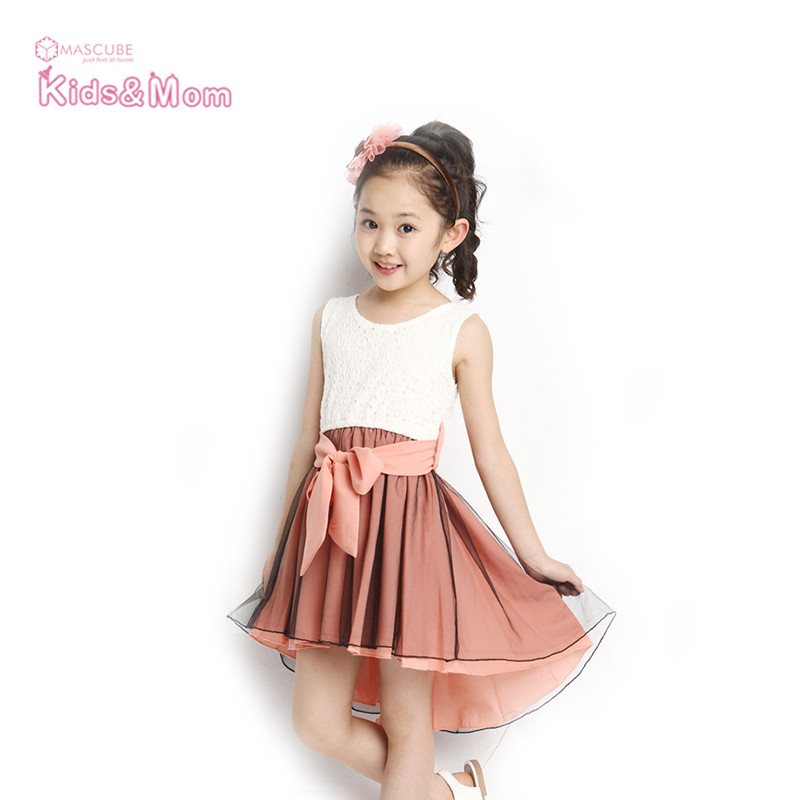 Girls Dresses Summer 2016 Fashion Cute Girl Kids Princess Dovetail Dress Party Wedding Vest Dress Kids Clothes robe fille enfant(China (Mainland))