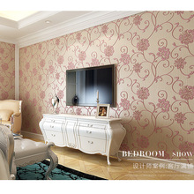 living room Non-woven wallpaper bedroom  section 3D three-dimensional relief idyllic backdrop wallpaper green wallpaper(China (Mainland))