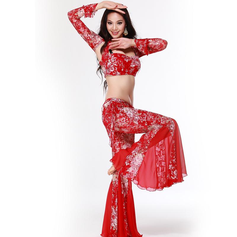 Belly dance set practice service lace broken decorative pattern piece set decorative pattern series(China (Mainland))