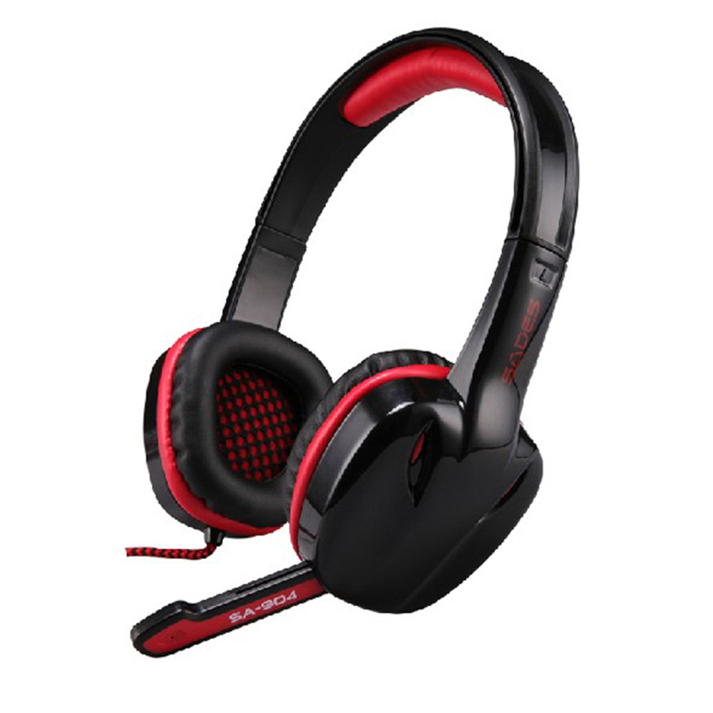 High quanity SADES SA904 Headband earphone 7.1 Surround Stereo Headset Gaming Headphone with Microphone + retail packaging<br><br>Aliexpress
