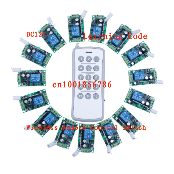 12V15CH RF wireless remote control switch system 15 receivers &amp; 1  transmitter independently Toggle/Momentary/Latched Adjustable<br><br>Aliexpress