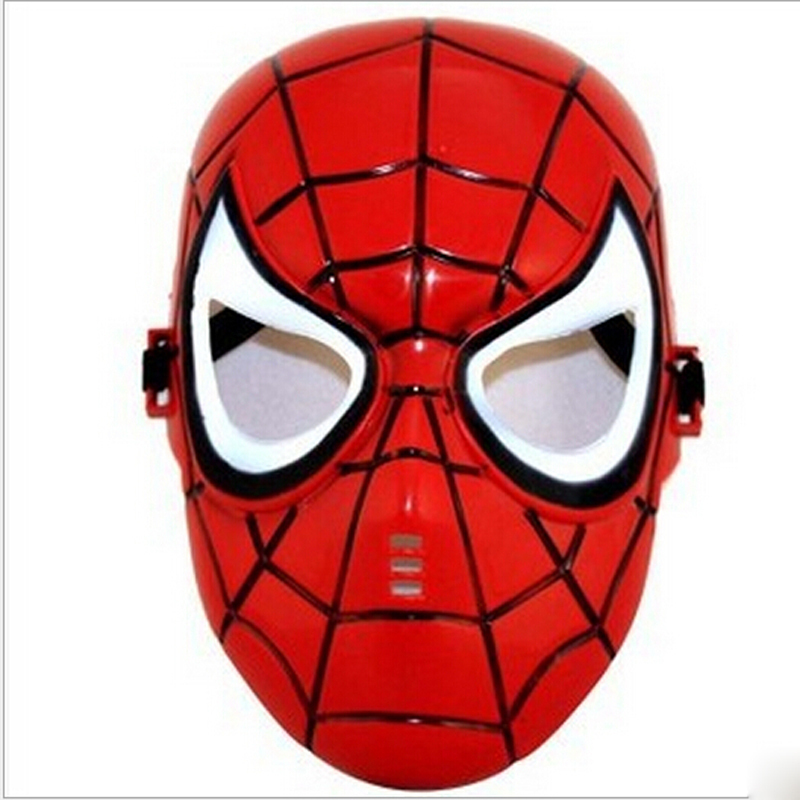 Red/Black Spiderman Mask Full Face for Masquerade Party Halloween Cosplay Accessory, Free Shipping(China (Mainland))