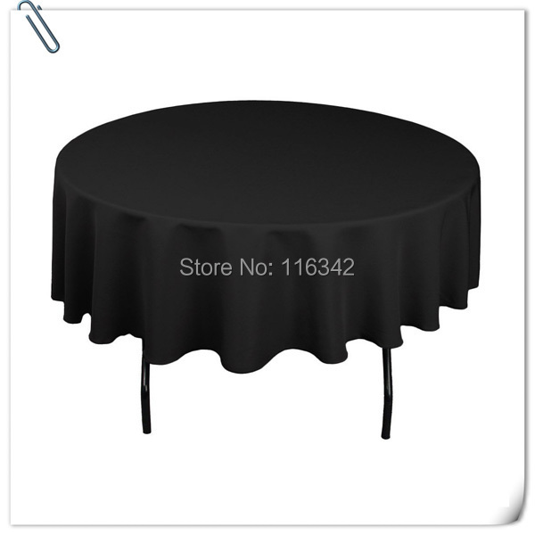 Big Discount !!!! Retail 10pcs 90inch black round table linen/table cloth for weddings Free Shipping(China (Mainland))