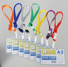 A2 Custom Lanyard ID Badge Business Card Key Holder Pocket Ring Case Neck Strap Event Party Supplies(China (Mainland))