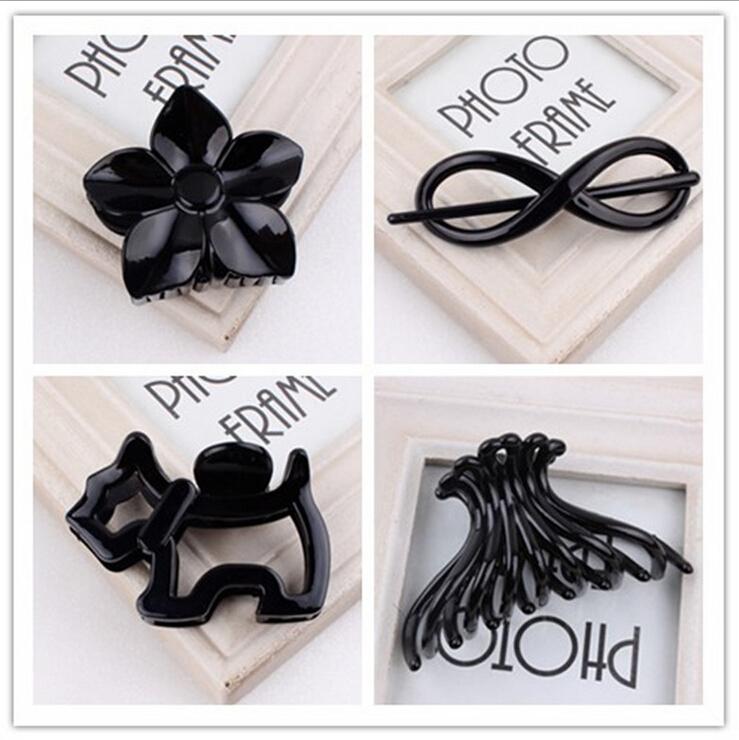 women Hair Clip fashion Hair Claw black Hairpin hair accessories for women simple hair crab clamp(China (Mainland))
